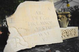 Taille de pierre à vocation décorative ou bien maçonnerie gros oeuvre
